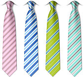 Striped silk ties
