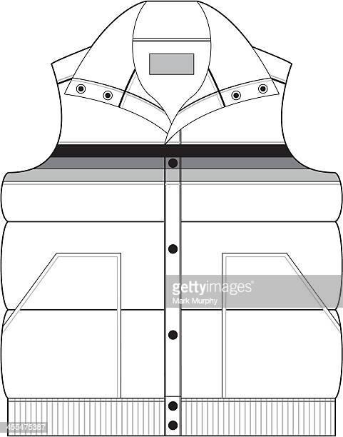 Veste Gilet sans manches à rayures