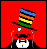 striped top hat