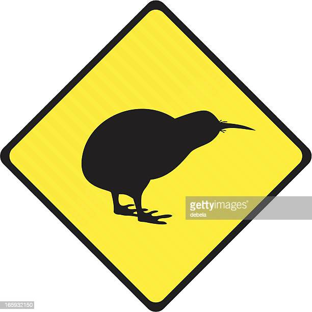 Stripped Kiwi Road Sign