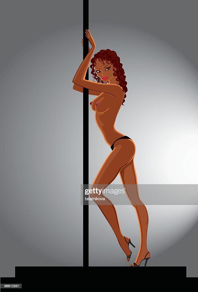 Strip tease dancing
