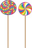 Stripy Lollipops