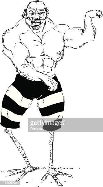 strong bodybuilding legs - body building stock illustrations