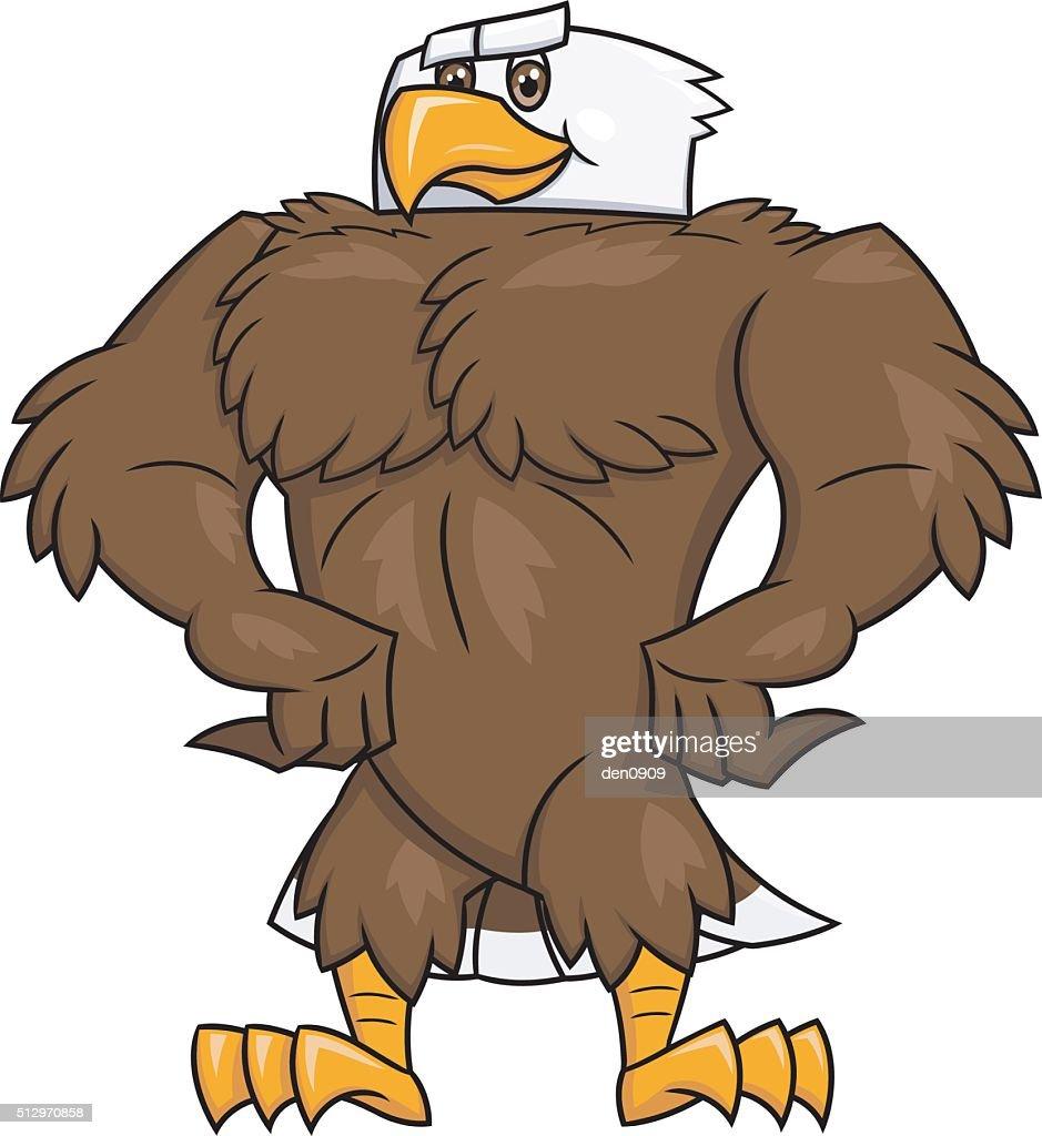 Strong eagle posing 2