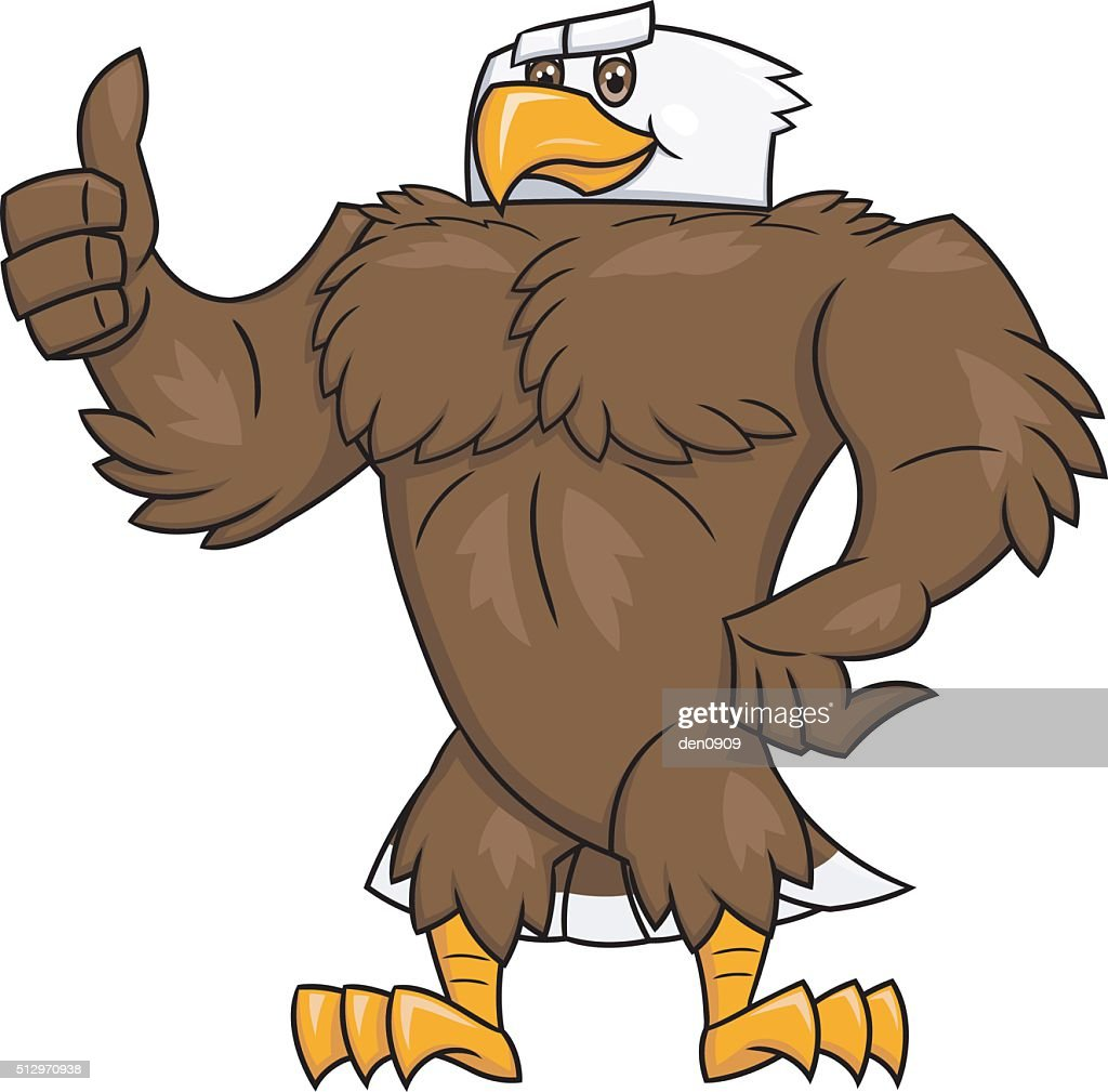 Strong eagle thumb up gesture 2