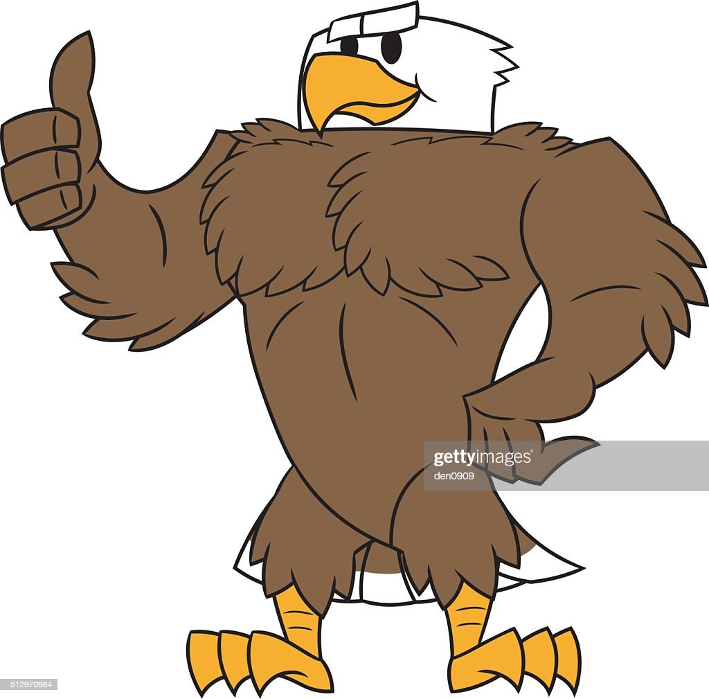 Strong eagle thumb up gesture