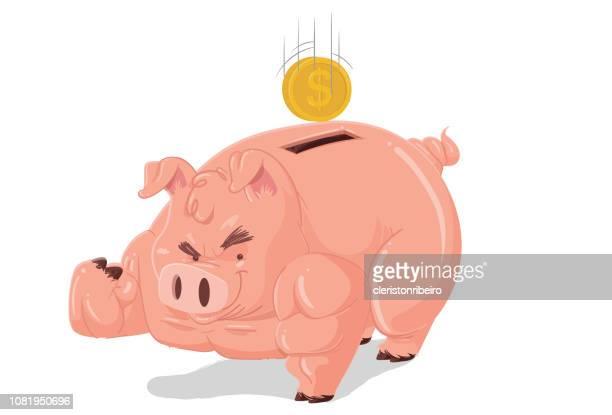ilustrações, clipart, desenhos animados e ícones de economia forte - mamífero