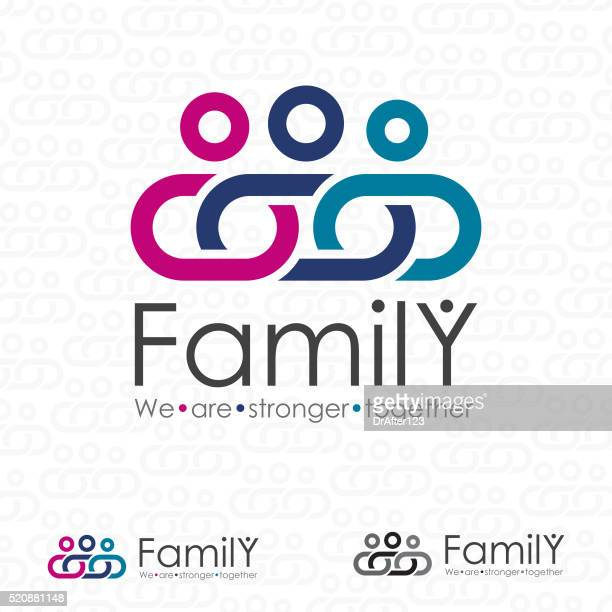 strong family logo - togetherness stock illustrations