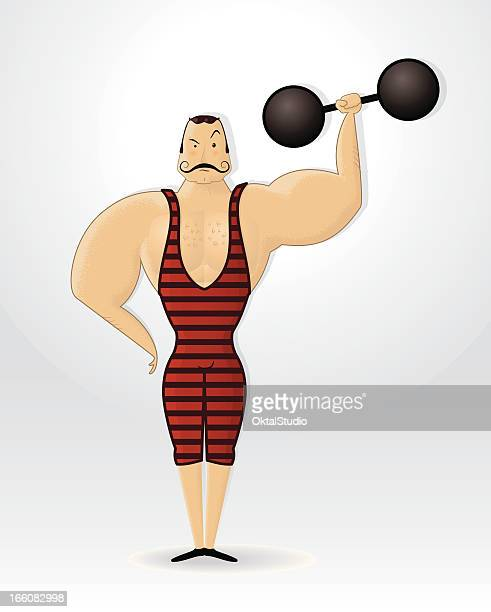 strong gentleman - body building stock illustrations