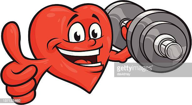 strong heart - body building stock illustrations