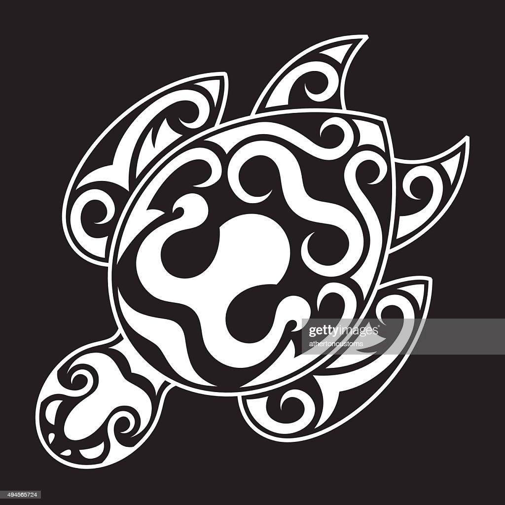 Strong icon design Tribal Sea Turtle