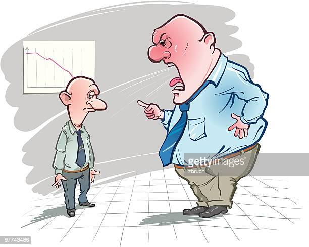 strong reprimand - foreman stock illustrations, clip art, cartoons, & icons