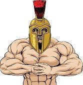 Strong Spartan or Trojan Mascot