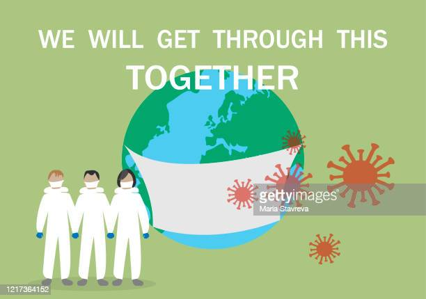 stronger together,coronavirus outbreak. - defeat stock illustrations