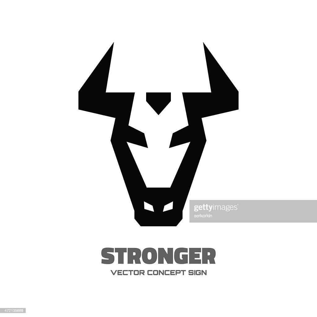 Stronger - vector logo concept illustration