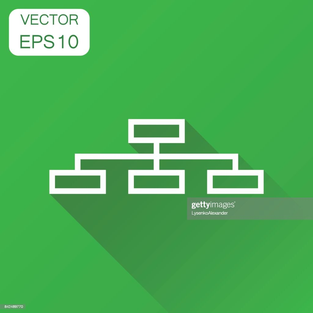 Structure chart icon business concept diagram pictogram vector business concept diagram pictogram vector illustration on green background with long ccuart Images
