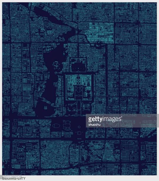 Struktur Linie Karte von Beijing City, china