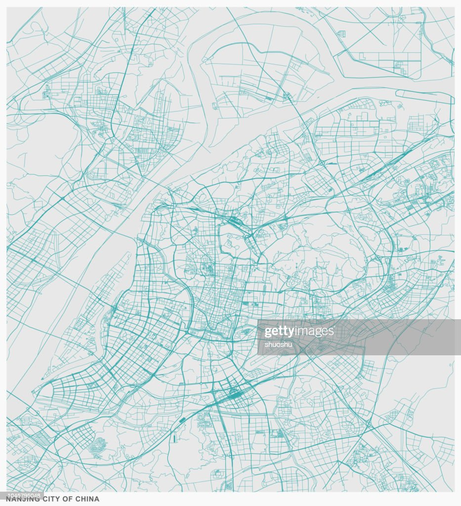 Structure Line Map Of Nanjing Citychina Vector Art Getty Images