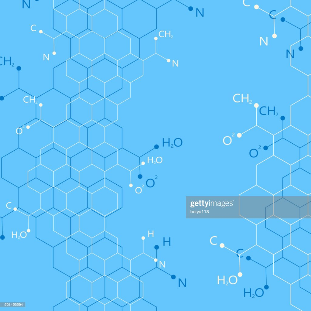Structure molecule on blue background. Graphic background for your design