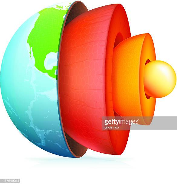 structure of the earth icon - lava stock illustrations, clip art, cartoons, & icons