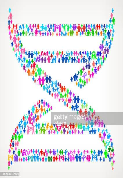 DNA Structure on vector family pattern Background