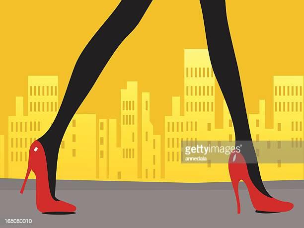 strut - high heels stock illustrations, clip art, cartoons, & icons