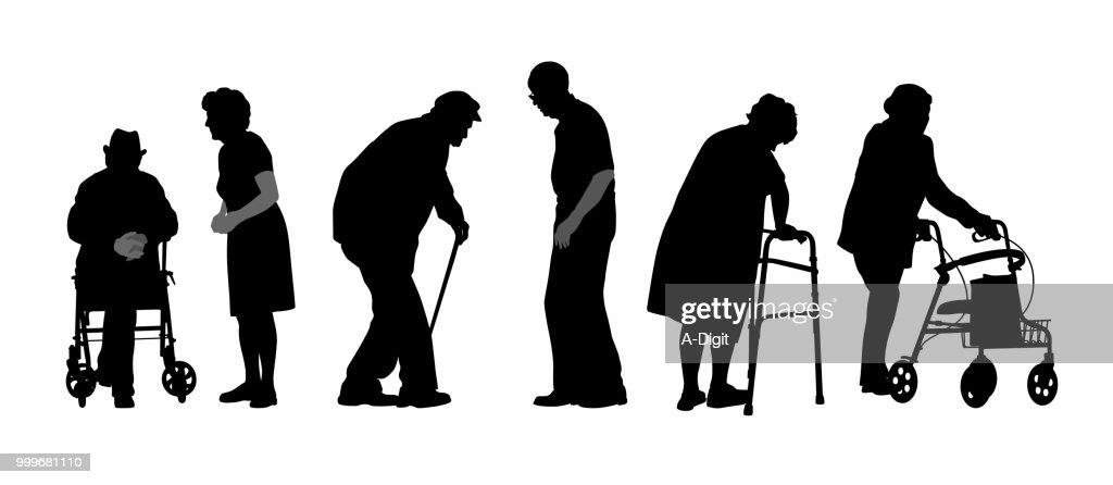 頑固な高齢者 : ストックイラストレーション
