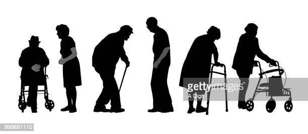 stubborn seniors - old stock illustrations