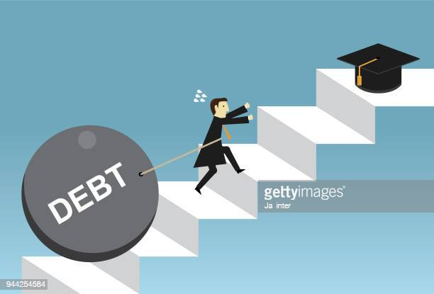 student debt - students stock illustrations, clip art, cartoons, & icons