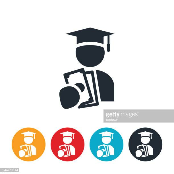 student financial aid icon - students stock illustrations, clip art, cartoons, & icons