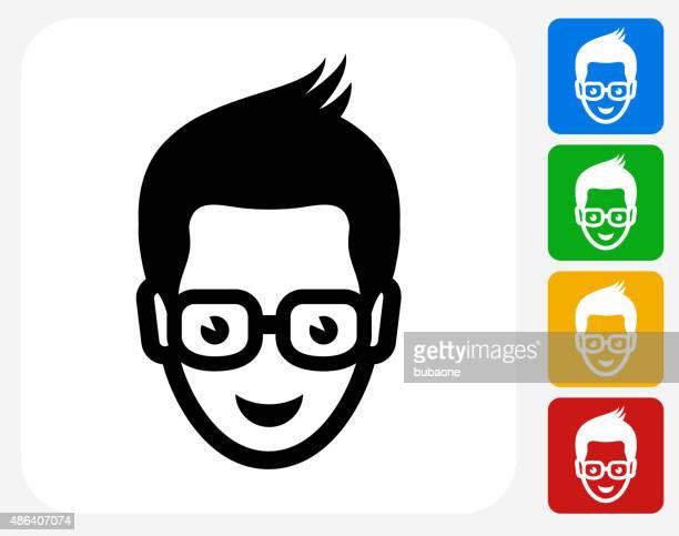 Student Icon Flat Graphic Design