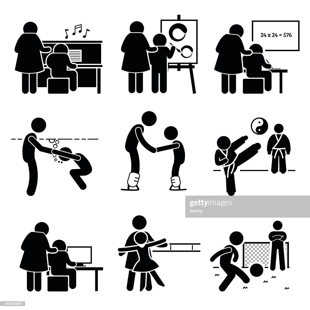 Student Learning Various Lessons Pictogram