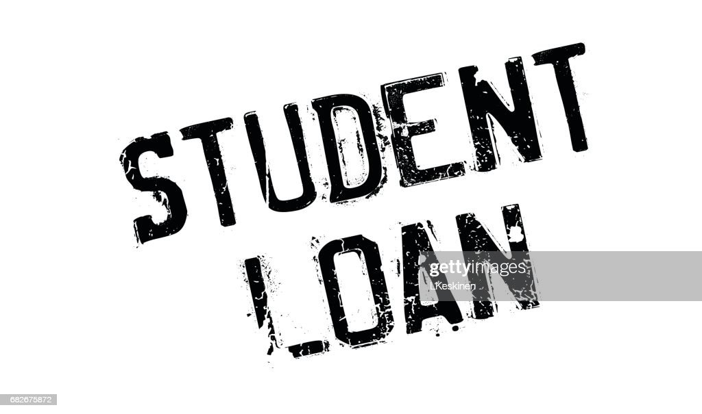 Student Loan rubber stamp