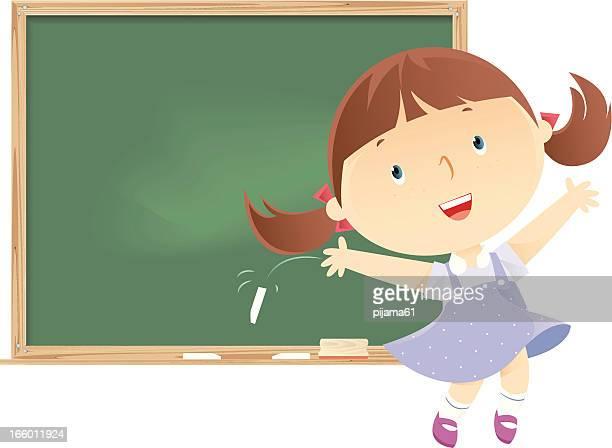 illustrations, cliparts, dessins animés et icônes de étudiant - petites filles