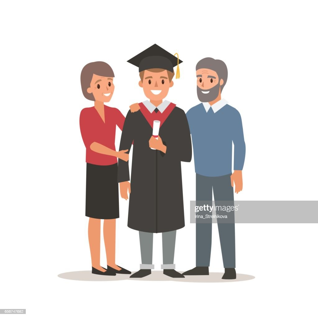 Student with parents