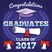 Students congratulating graduation vector background. Graduates ceremony poster, campus background