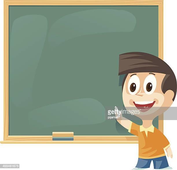 illustrations, cliparts, dessins animés et icônes de étudiants dans la salle de classe - devant