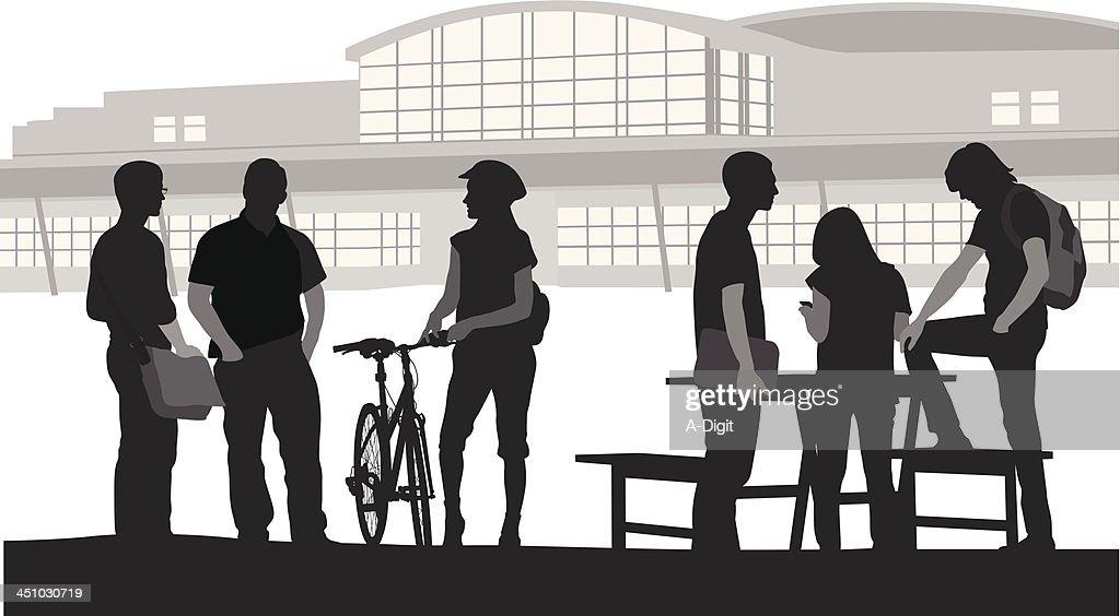 Students Outside : stock illustration