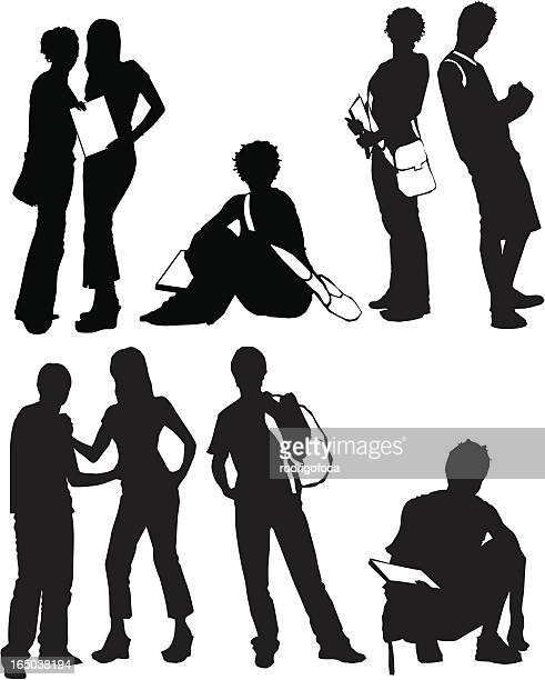 Students Silhouettes VECTOR set