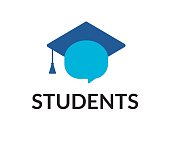 Students vector icon