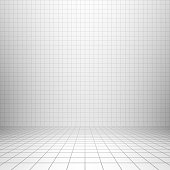 Studio backdrop with grid