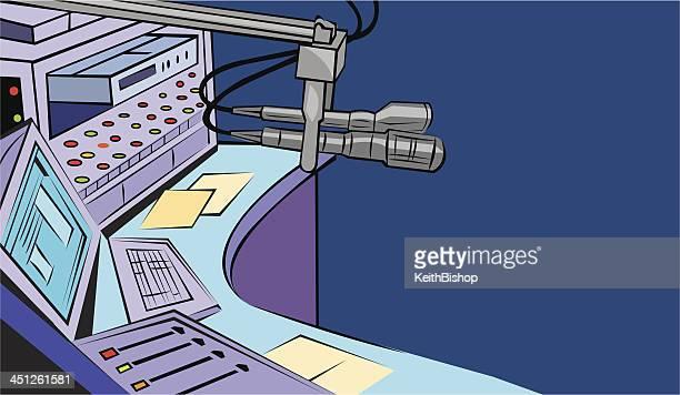 Studio Microphone - Radio Station Equipment Background