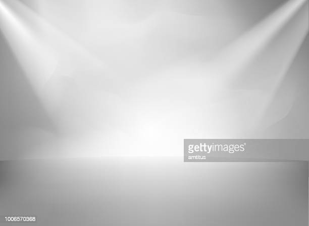 studio wall textured with lights - lighting equipment stock illustrations
