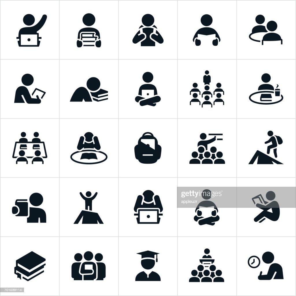 Studium und lernen Symbole : Stock-Illustration