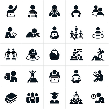 Study and Learning Icons - gettyimageskorea