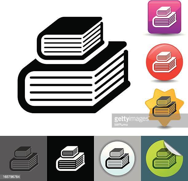 ilustrações, clipart, desenhos animados e ícones de estudo livros ícone/solicosi series - livro de capa dura
