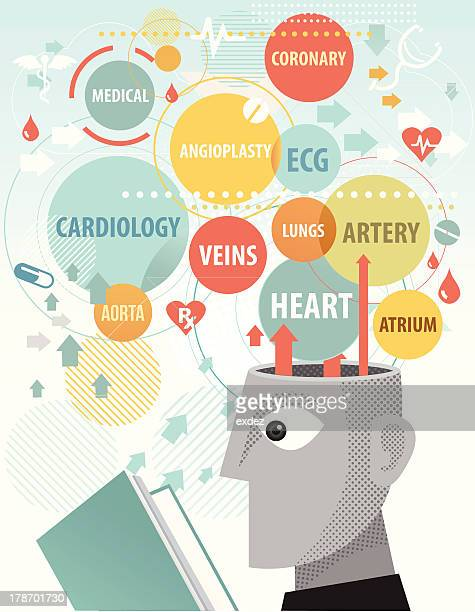 studying cardiology - coronary artery stock illustrations, clip art, cartoons, & icons