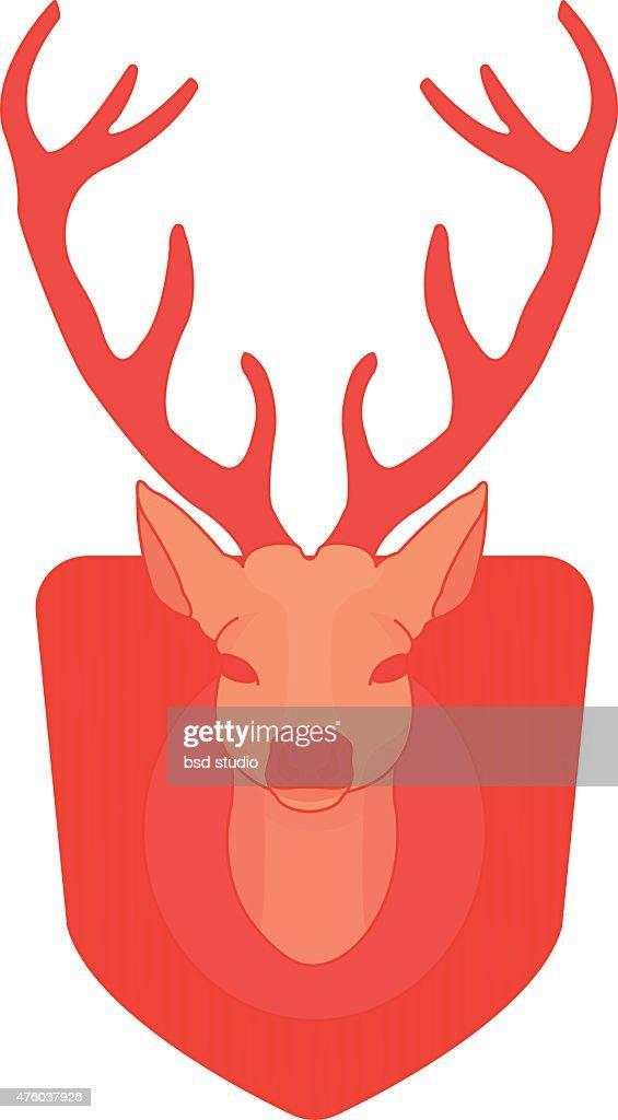 Stuffed taxidermy deer head