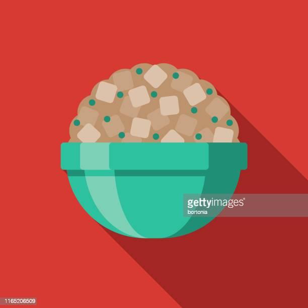 休日の食べ物のアイコンを詰め込む - スタッフィング点のイラスト素材/クリップアート素材/マンガ素材/アイコン素材
