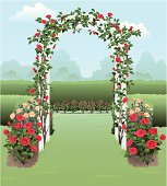 A stunning illustration of a rose garden